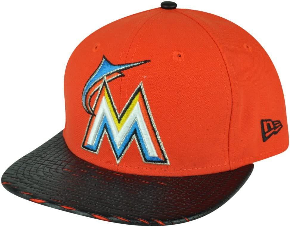 MLB New Era 9 FIFTY 950 piel Rip Miami Marlins gorra sombrero ...