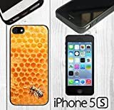 iphone 5 case custom made - Bumble Bee Honeycomb Custom made Case/Cover/skin FOR iPhone 5/5s - Black - Rubber Case ( Ship From CA)