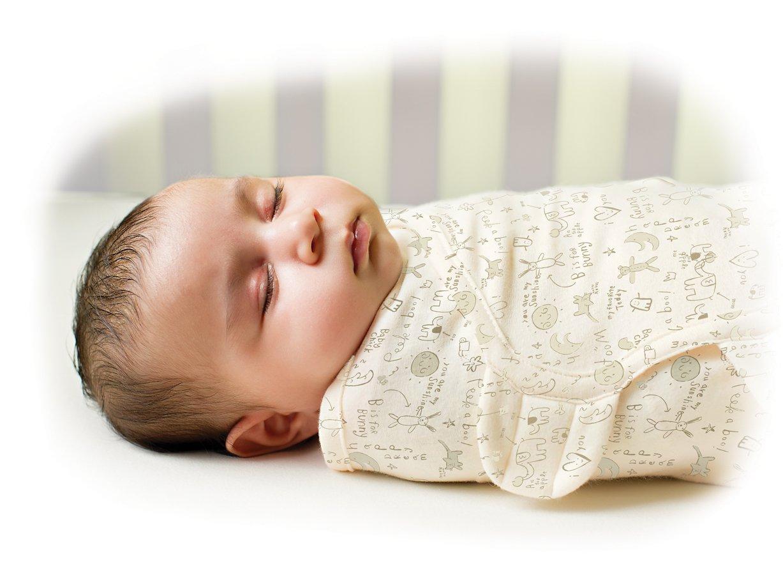 Amazon.com: Summer Infant SwaddleMe Organic Adjustable Infant Wrap, Ivory, Small/Medium: Baby