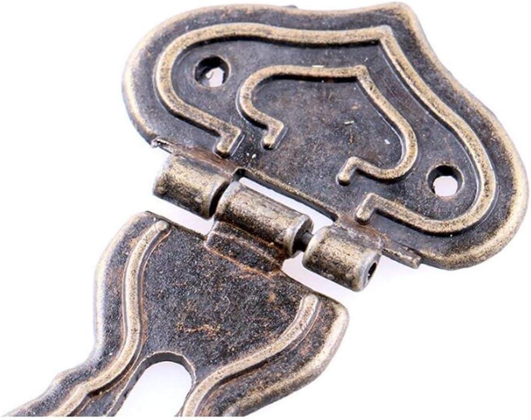 TEBI Antike Bronze Haspe Latch Schmuck Holzkiste Mini Kabinett Schnalle Sperre dekorativ