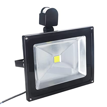 Foco LED Luces,30W IP65 Impermeable PIR Sensor de Movimiento Exteriores Foco LED de Alta