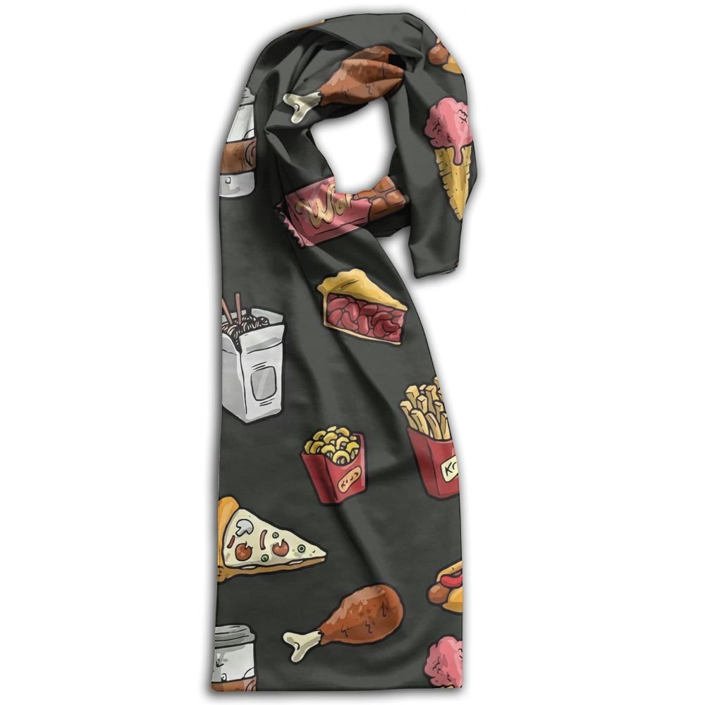 Doppyee Love Food Super Soft Classic Cashmere Pashmina Feel Winter Scarf For Men And Women