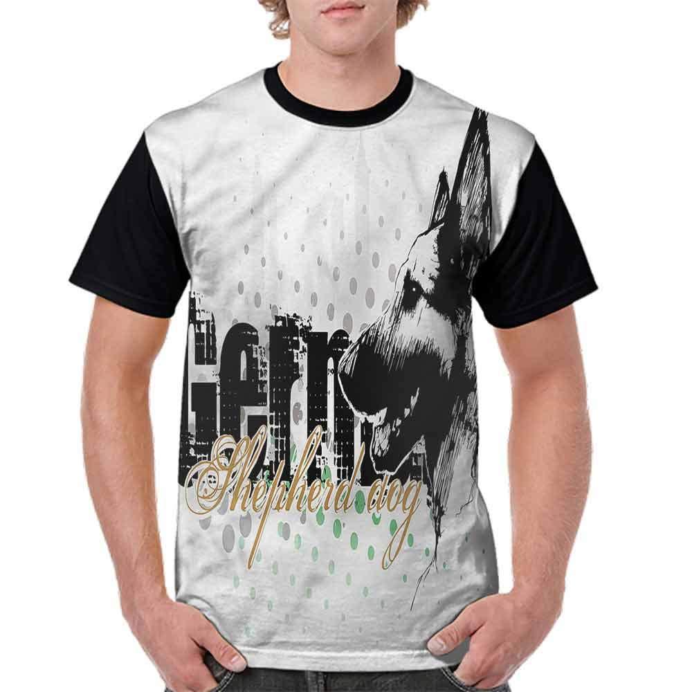 BlountDecor Loose T Shirt,Halftone Hound Dog Fashion Personality Customization