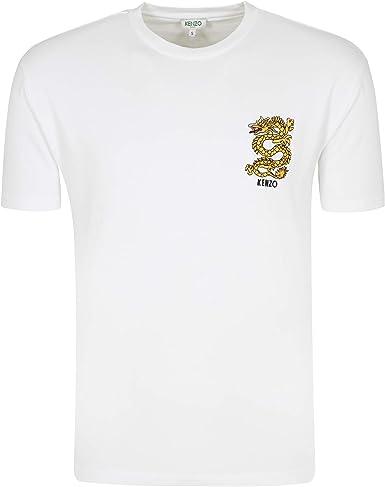 Kenzo Hombre Dragón Escudo Camiseta Algodón: Amazon.es: Ropa y ...