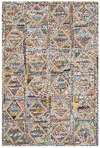 Safavieh Nantucket Collection NAN440A Handmade Abstract Geometric Diamond Multicolored Cotton Area Rug (2'3