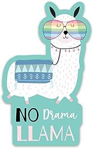 """Stickeroonie Cute No Drama Llama Vinyl Sticker, Cool Water Resistant Sticker, 4"""" x 2.4"""" Size"""