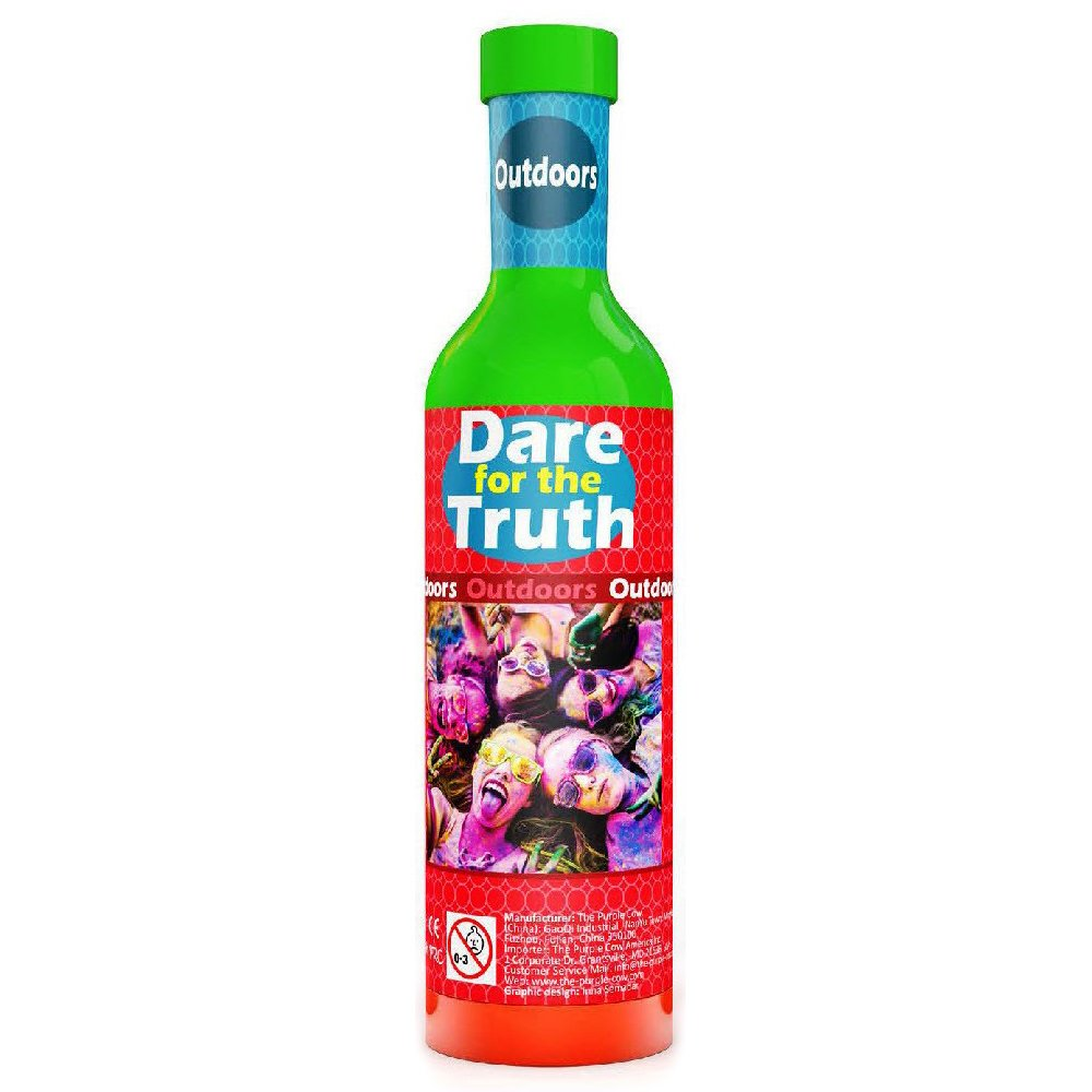 The Purple Cow Dare for Truth Outdoor Spin the Bottle Game, Outdoor Edition