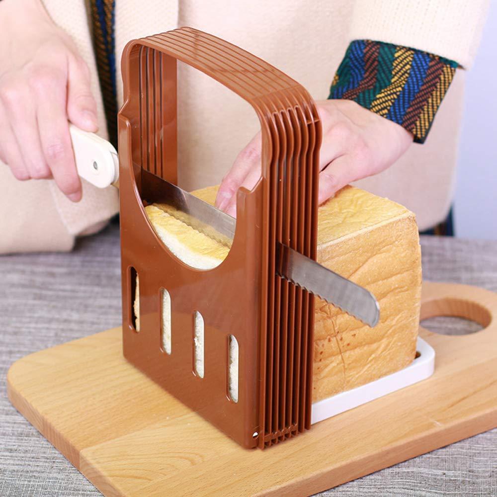 Perfetsell Coupe-pain pour pain fait maison 4 /épaisseurs r/églables et pliables Machine /à pain