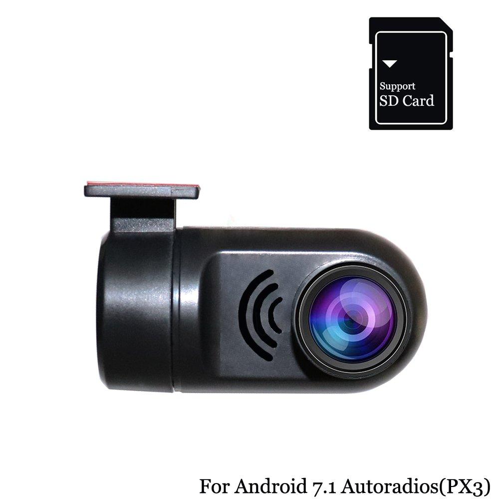Hi-azul 1080P HD DVR Lente de /Ángulo Ancho de 170 /° Grabador de Conducci/ón de Veh/ículos C/ámara Delantera del Autom/óvil con Ranura para Tarjeta SD Admite Universalmente la Conexi/ón USB para las Radios de Autom/&o