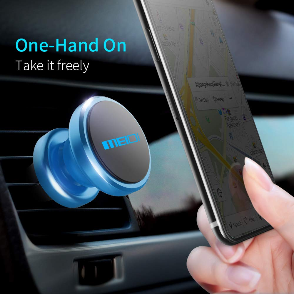 Blue Samsung More VC-4013LB MEIDI Magnetic Phone Car Mount Air Vent Multi-Angle Rotation Phone Holder Compatible with iPhone 7//6 Plus
