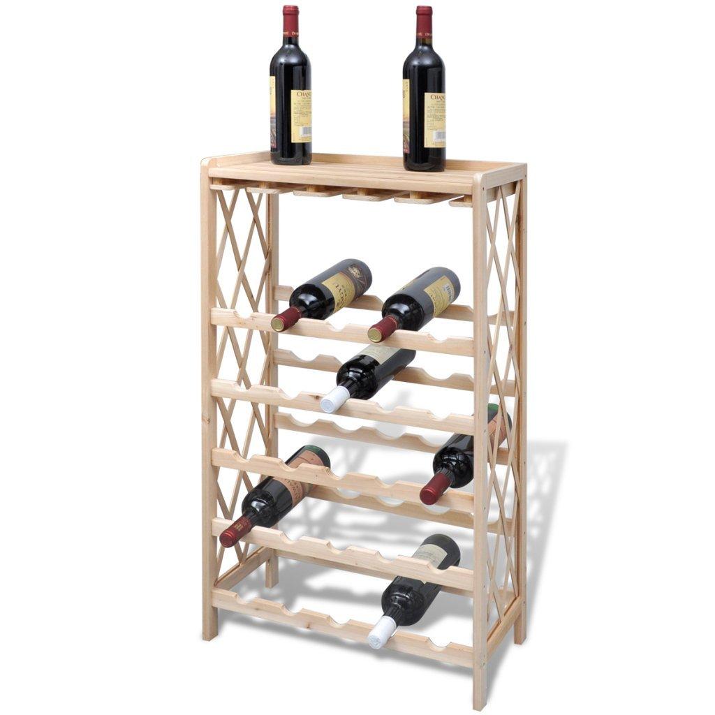 Festnight Cantinetta Vino portabottiglie in Legno Il Vino 25 Bottiglie