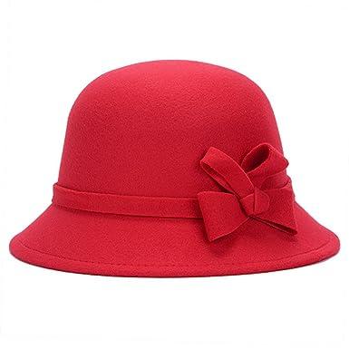 Women Girls Travel Party Topper Bucket Hat Trilby Winter Wool Felt ... 9ed275d7eba9