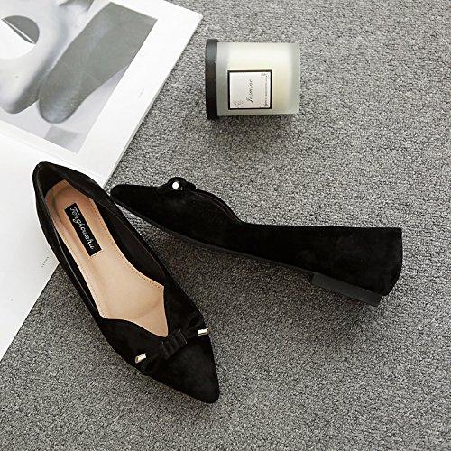 Xue Qiqi Tipp Flache Bow Schuhe mit Hohlen Bow Flache Tie Flachbild mit Einzelnen Schuhe Frauen Satin Anzug mit Low Kick mit Damen Schuhe f31c41