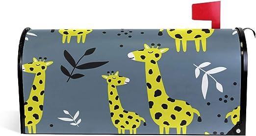 Linomo - Buzón magnético, diseño de Jirafa, para buzón de Correo, para casa, jardín, Patio, decoración al Aire Libre, tamaño Grande, 65 x 53 cm: Amazon.es: Jardín