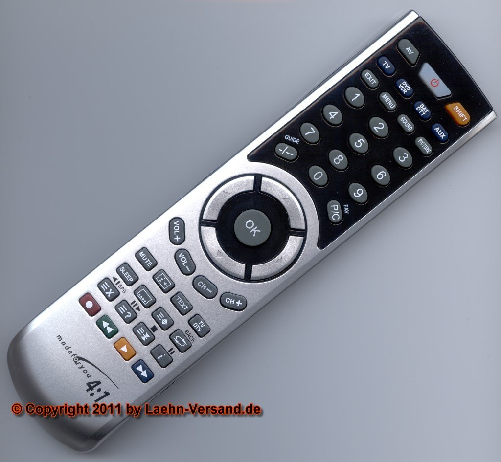 4:1 pc-programable con mando a distancia de repuesto con estuche ...