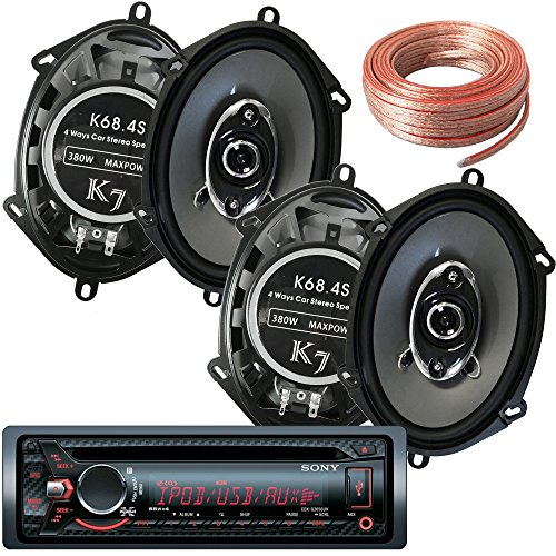Sony Package - Sony CDX-G3050UV In-Dash CD/MP3/AM/FM Receiver + 2 Pair of K68.4S 6x8 Inchs 6