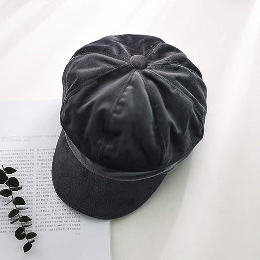 Sombrero Femenino Terciopelo Dorado Gorra Octogonal Arte Ocio ...