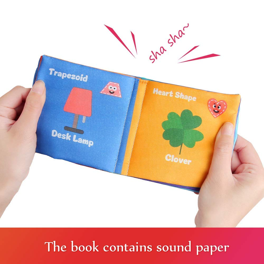 Babys First Soft Books with Rustling Sound,Non-Toxic Cloth Books Toy Set for Newborns Infants Toddlers /& Kids.Perfect for Baby Toy Gift Sets Baby Shower Pack of 6