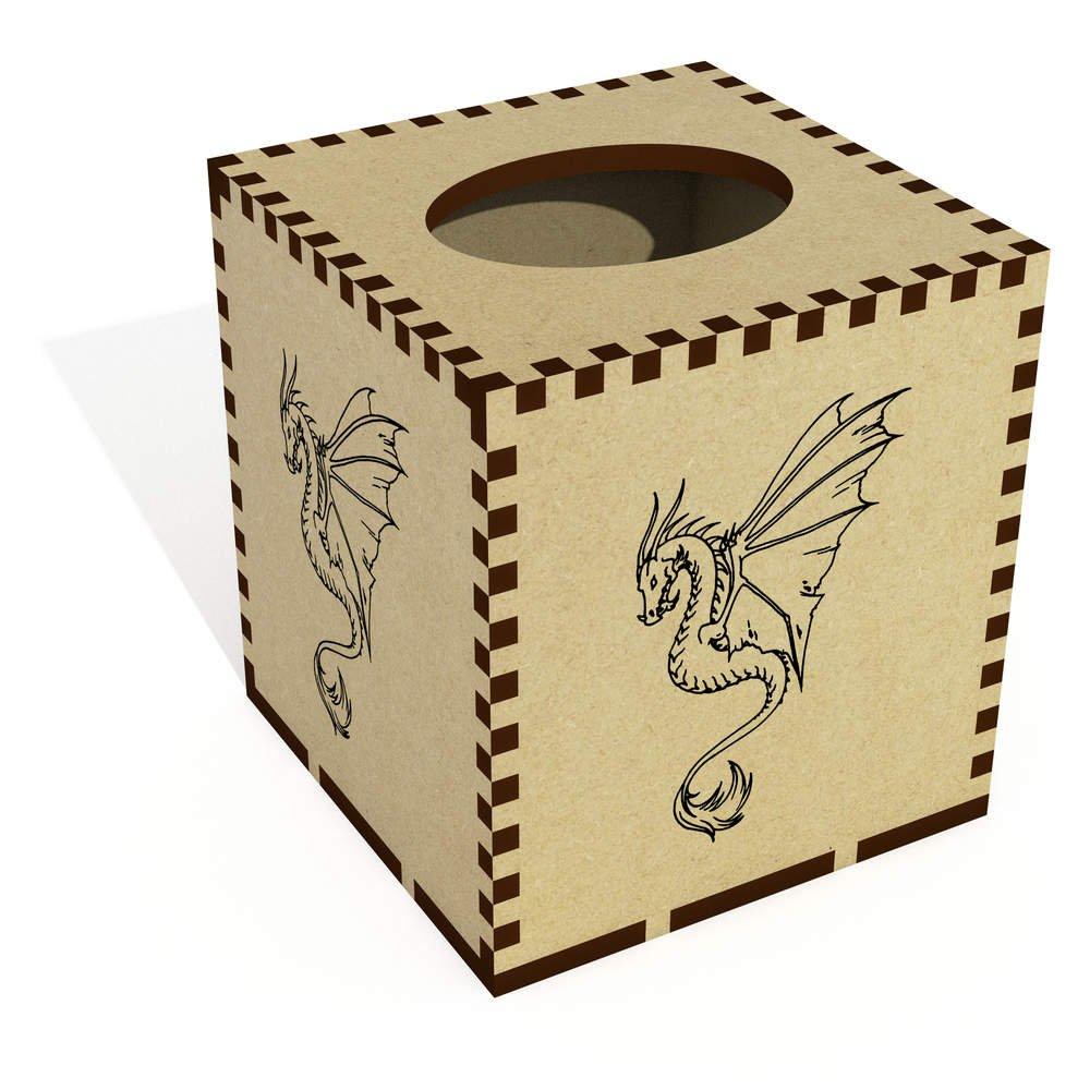 Azeeda Square 'Dragon' Wooden Tissue Box Cover (TB00005809)