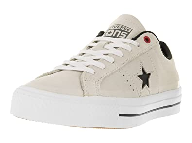 17933c911f6e Image Unavailable. Image not available for. Color  Converse Unisex One Star  Pro Suede Ox Buff Black White Skate Shoe ...