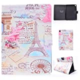 LittleMax(TM) iPad Pro 9.7 Case, Premium PU Leather Folio [Slim Fit] Standing Protective Smart Cover with Auto Sleep/Wake Feature for Apple iPad Pro 9.7-inch 2016 Model Tablet - 01 Eiffel Tower