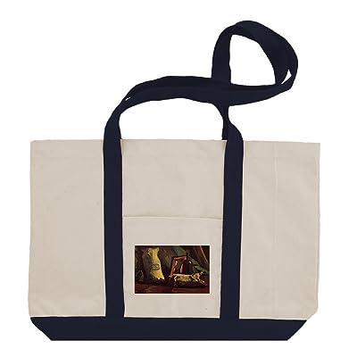 A Basket Of Crocuses (Van Gogh) Cotton Canvas Boat Tote Bag Tote