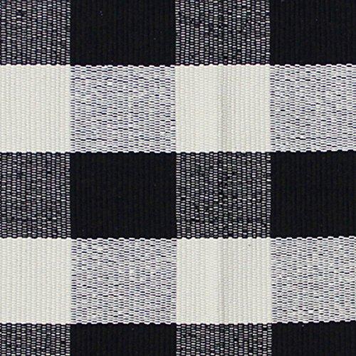 tricot floor mat 17 x 27 black white plaid. Black Bedroom Furniture Sets. Home Design Ideas
