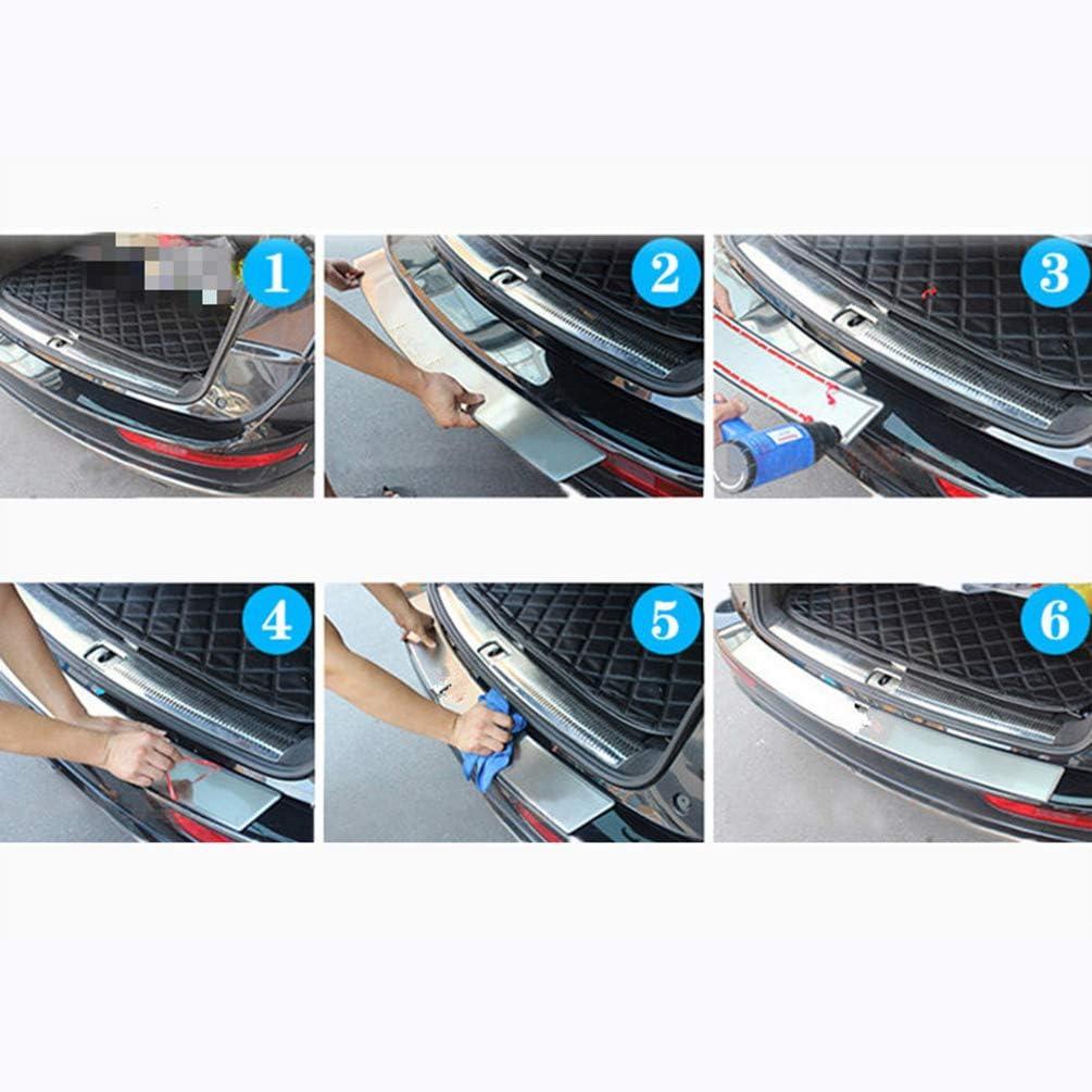 f/ür Nissan NV200 Rear Bumper Protector Einstiegsleisten Scuff Plate Car Styling Zubeh/ör Auto Edelstahl Hecksto/ßstange Schutzschwelle