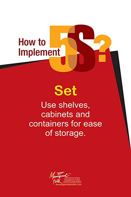 Amazon Lean Implement 5s Use Shelves Cabinets Containers To