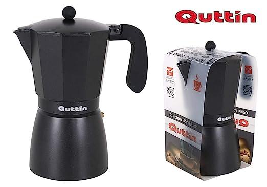 Quttin Cafetera Aluminio 9 servicios Dark Black: Amazon.es: Hogar
