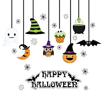 Amazon.com: BESTOYARD Happy Halloween Sticker Pumpkin Spooky ...