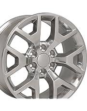 OE Wheels 22 Inch Fits Chevy Silverado Tahoe GMC Sierra Yukon Cadillac Escalade CV92 Polished 22x9 Rim Hollander 5656