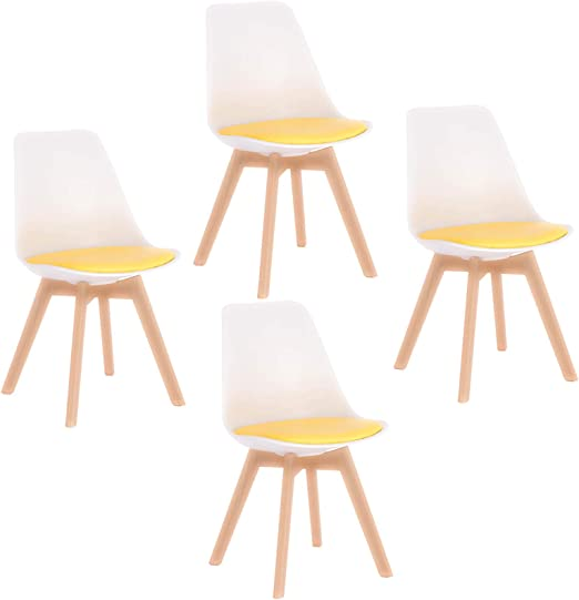 Elightry Pack 4 Patchwork Silla Tower Patas Madera Sillas de ...