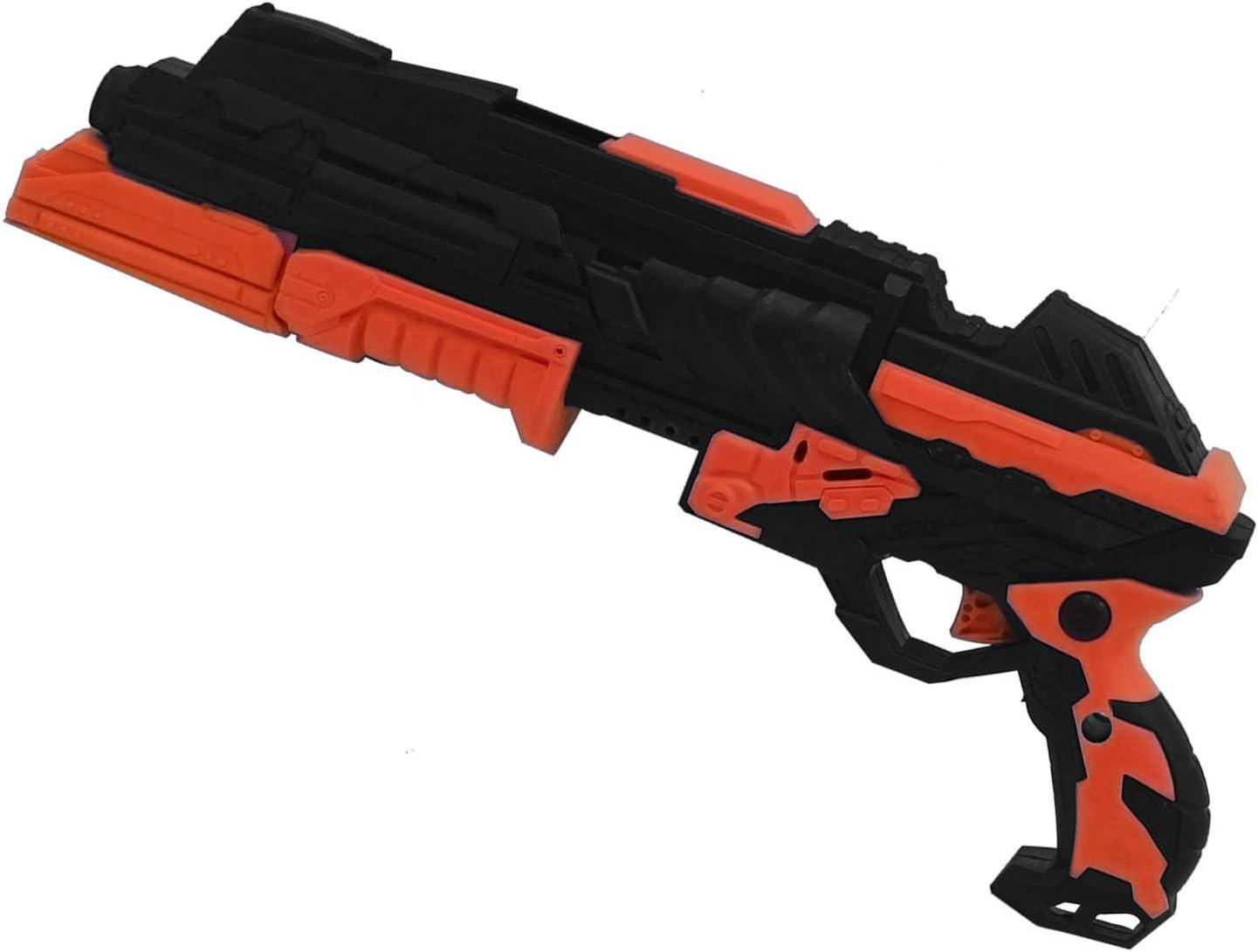 BEETEST 2 en 1 niños plástico espuma suave Dart Gun pistola tiros juego agua cristalina bala de juguete Naranja