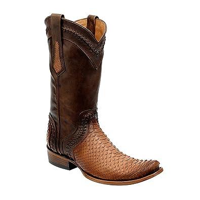 09dc606870b Amazon.com | Cuadra Urban Python Western Boots 1J34PH | Western