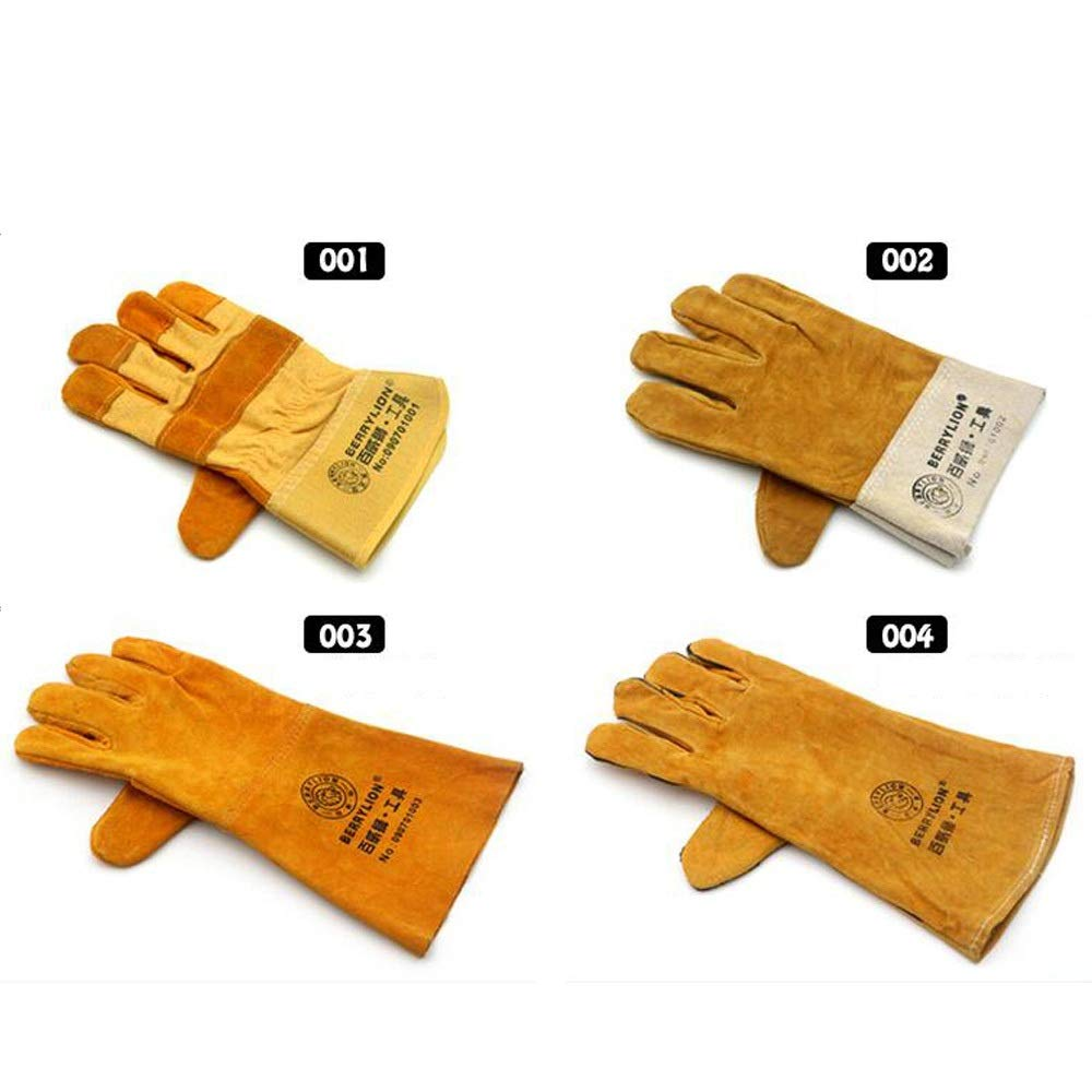 Protective Gloves,Welding Gloves,Cowhide Material, Mitts For Oven (Style : 001)