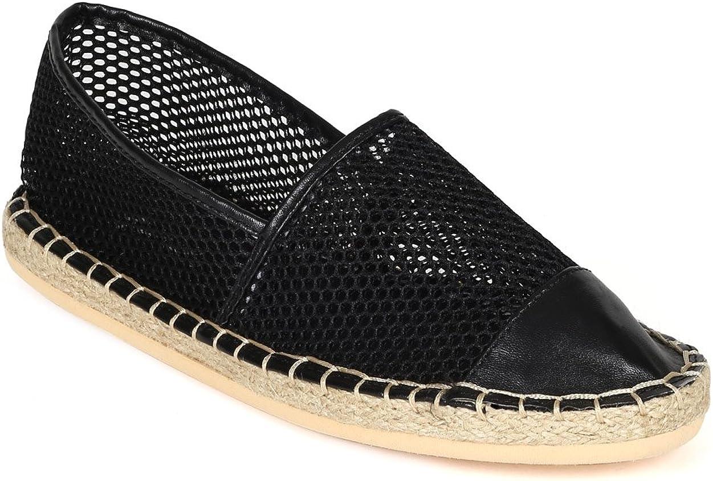 black leatherette slip on loafers