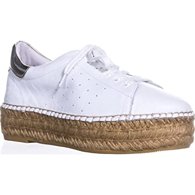 bc92066340 STEVEN by Steve Madden Frauen Pace Leder Fashion Sneaker Weiss Groesse 11  US /42 EU