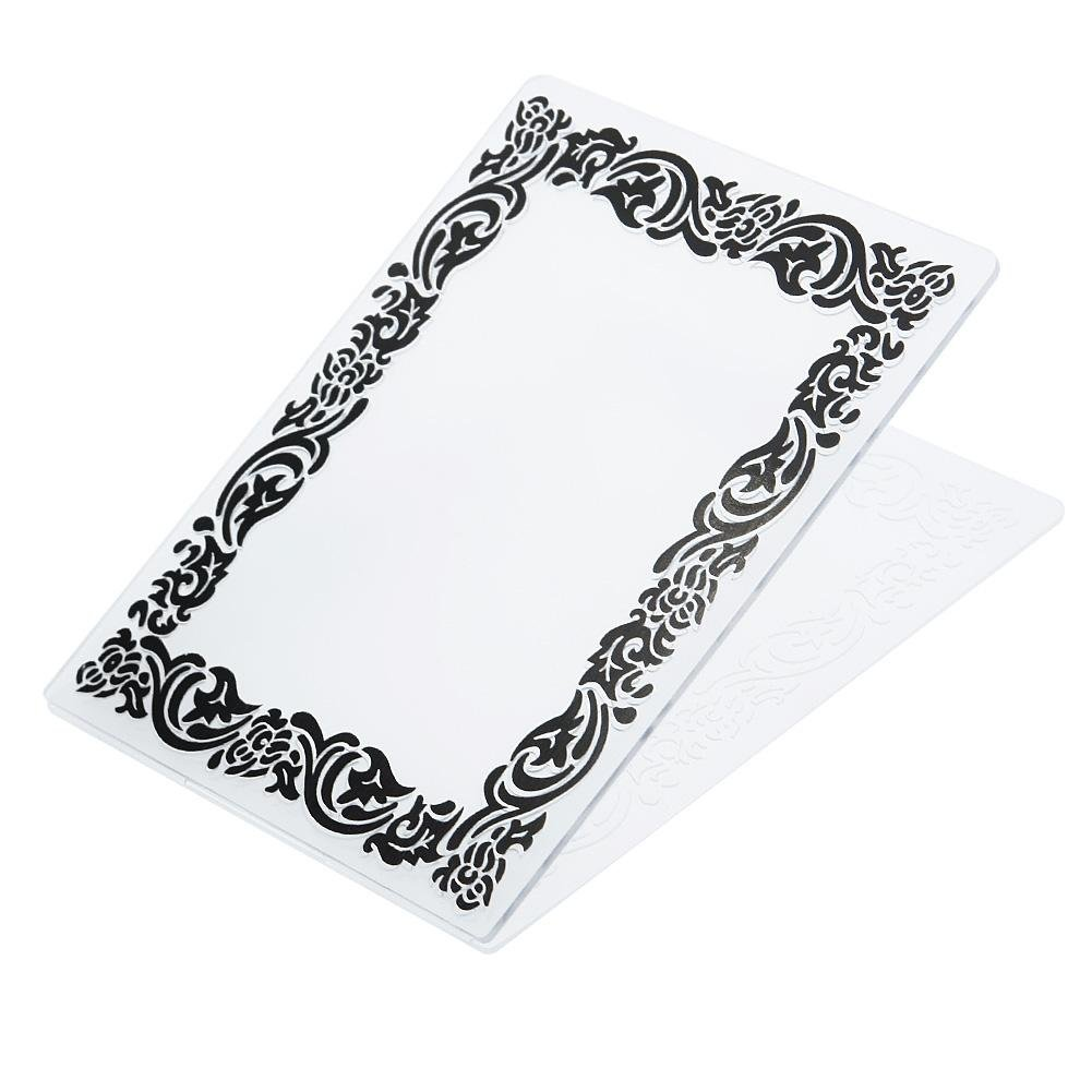 ZHUOTOP Newest Black Rtro Frame Plastic Embossing Folders for DIY Scrapbooking Paper Craft//Card Making Decoration Supplies