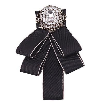 Apparel Accessories Crystal Flower Pearl High Quality Rhinestone Shirt Pins Neck Bow Striped Tie Bow Knot Apparel Accessories Fashion Jewelry