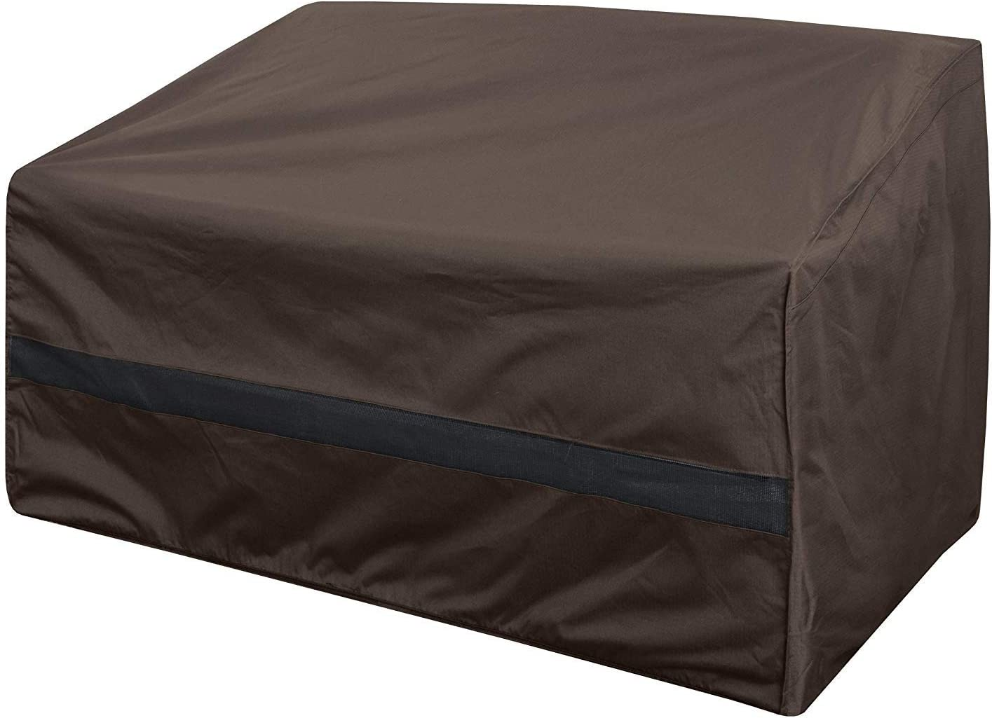 True Guard Patio Furniture Covers Waterproof Heavy Duty - Loveseat Cover, 600D Rip-Stop, Fade/Stain/UV Resistant for Outdoor Patio Furniture, Dark Brown