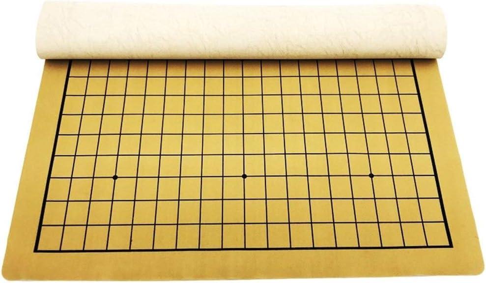 TX NIÑA Va El Juego De Ajedrez Juegos De Mesa 19 Juegos Way Tablero De Ajedrez De Cuero Plegable Portátil De Tablero De Ajedrez (Size : 46 * 52 cm): Amazon.es: Hogar