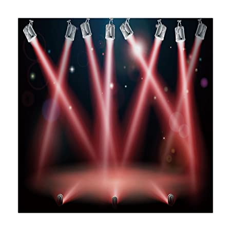 iPrint Polyester Square Tablecloth,Musical Theatre Home