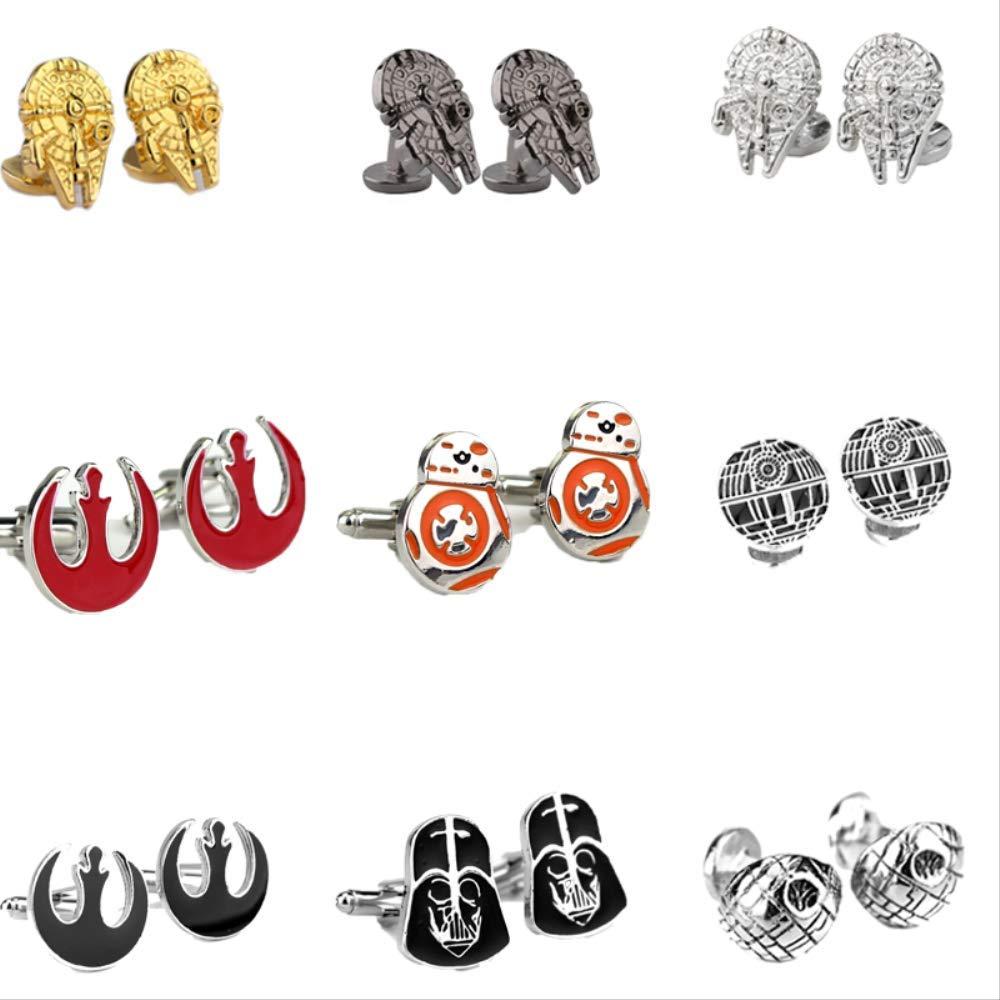 KHQM Cuff Star Wars Pin Stormtrooper Gemelos Pin Star Wars Darth ...
