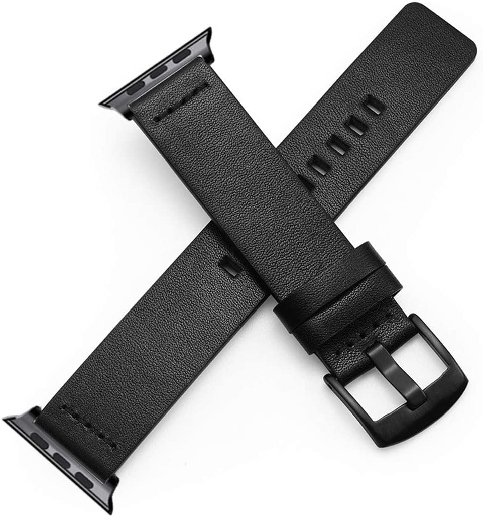 Apple Watch Band 44Mm 42Mm 40Mm 38Mm,Genuine Leather Band for Iwatch Series 4 3 2 1 Classic Black Brown Strap