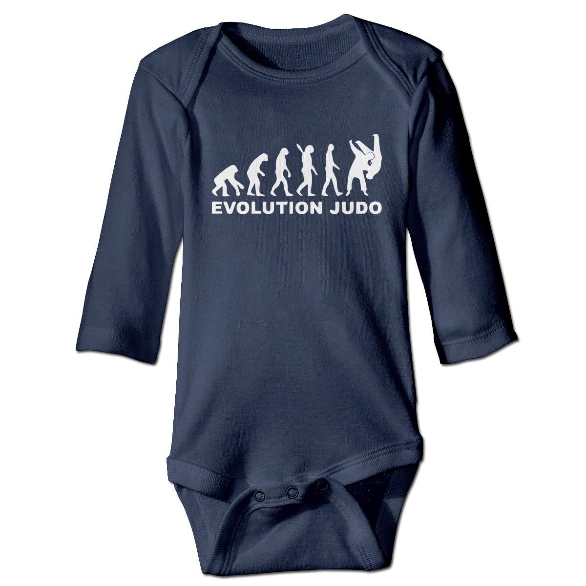 A14UBP Baby Infant Toddler Romper Bodysuit Jumpsuit Evolution Judo 1 Long Sleeve Funny Jumpsuit Romper