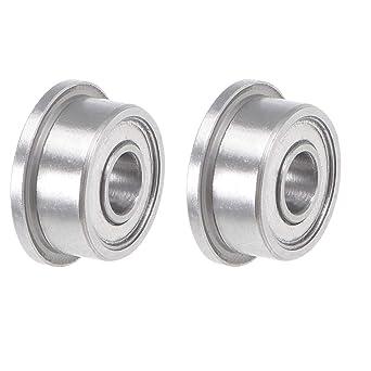 2Qty Rodamiento de bolas con reborde Sourcingmap F693 F685 F686 F688 acero cromado 1 F693ZZ