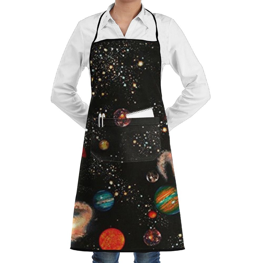 New Solar System Galaxy Adjustable Pockets Cooking Unisex Kitchen Aprons Chef Apron Cooking Apron Barbecue Aprons