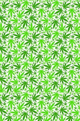Cannabis Weed Verde Patrón Silueta de hoja de transferencia de ...