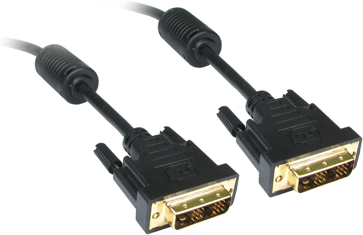 Black CDL Micro 2 m 6 ft DVI-D Male to Male Cable